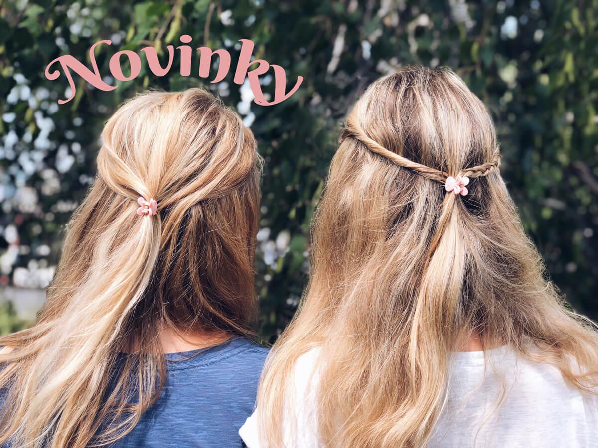 Štipčeky do vlasov v tvare zajačikov
