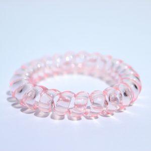 Bledoružová gumička do vlasov Hairfix - Crystal Light Pink 1