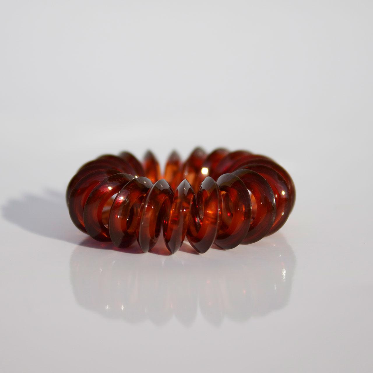 Malá hnedá gumička do vlasov Hairfix - Mini Brown