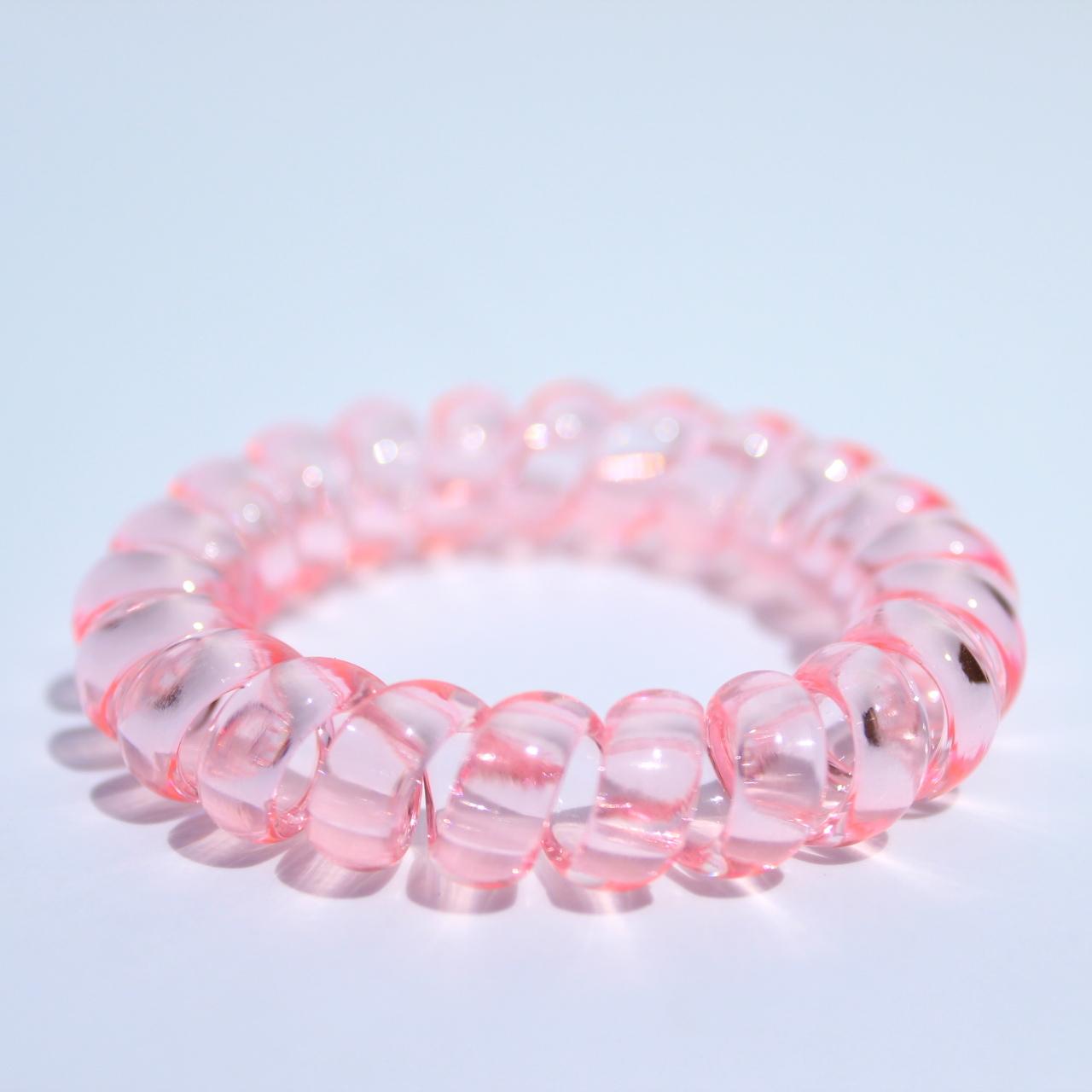 Bledoružová gumička do vlasov Hairfix - Crystal Light Pink 2