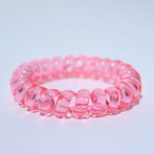 Ružová gumička do vlasov Hairfix - Crystal Pink