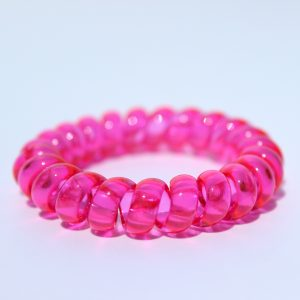 Sýtoružová gumička do vlasov Hairfix - Crystal Pink