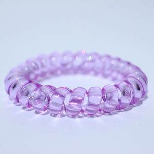 Fialová gumička do vlasov Hairfix - Crystal Purple