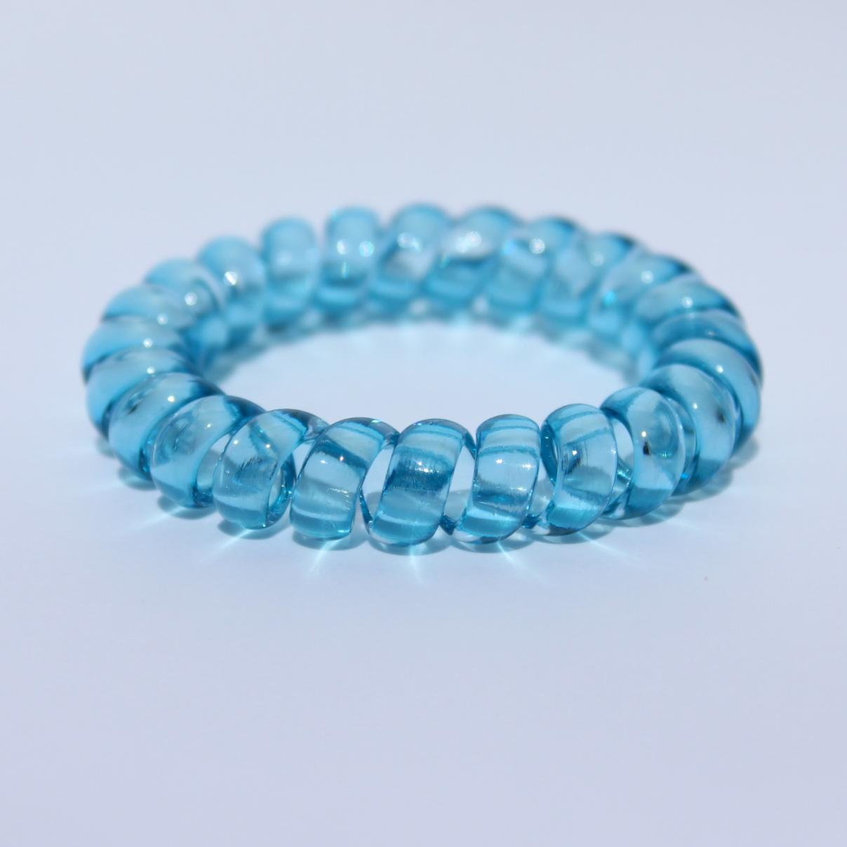 Bledomodrá gumička do vlasov Hairfix - Crystal Light Blue