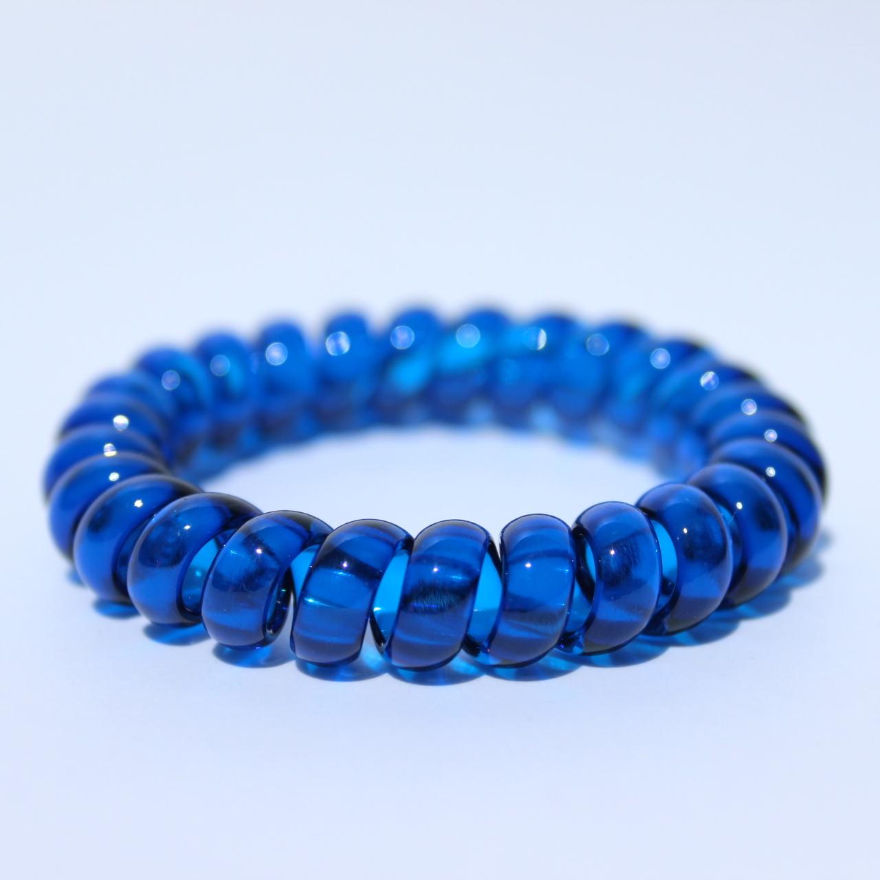Tmavomodrá gumička do vlasov Hairfix - Crystal Dark Blue