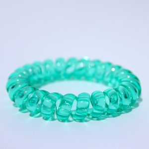 Zelená gumička do vlasov Hairfix - Crystal Green