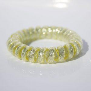 Žlatá trblietavá gumička do vlasov Hairfix - Glitter Yellow