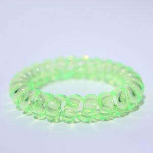 Neónovo zelená gumička do vlasov Hairfix - Crystal Neon Green