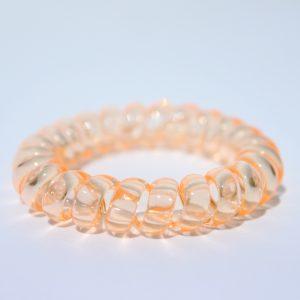Koralová gumička do vlasov Hairfix - Crystal Coral