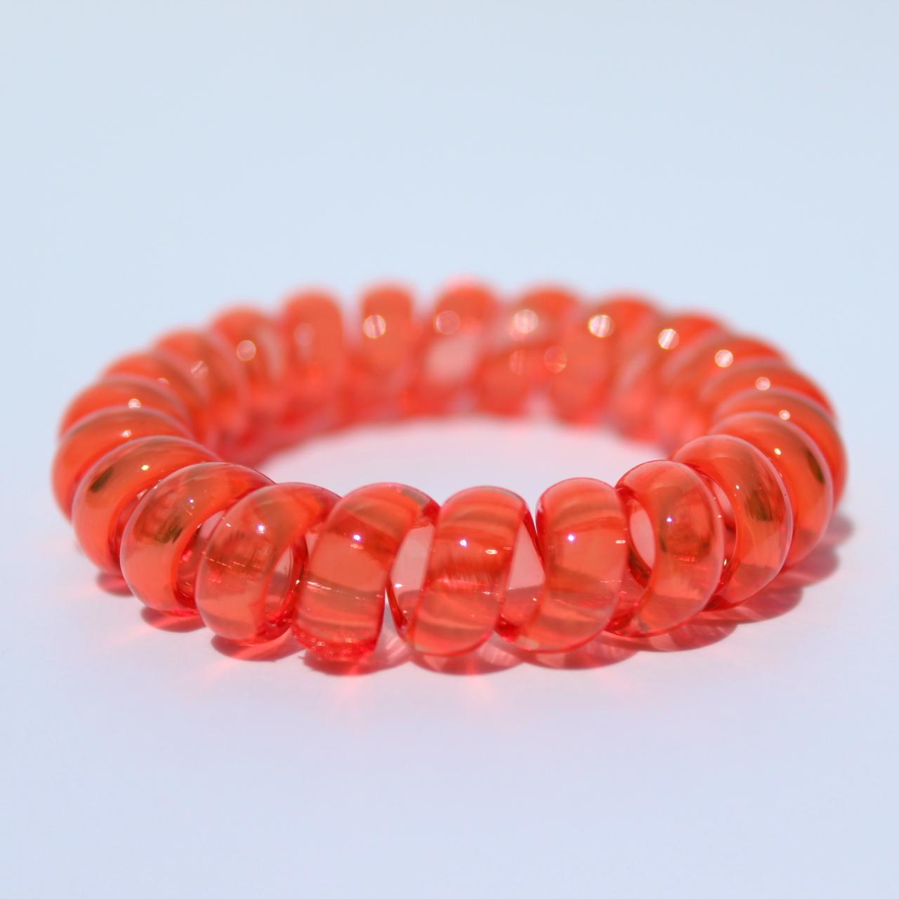 Červená gumička do vlasov Hairfix - Crystal Red