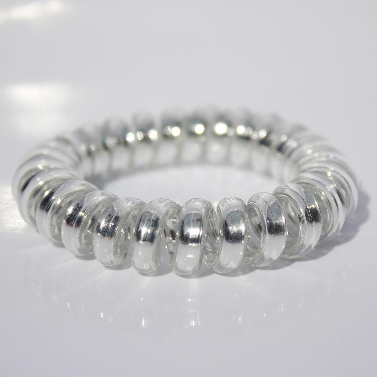 Strieborná gumička do vlasov Hairfix - Metallic Silver