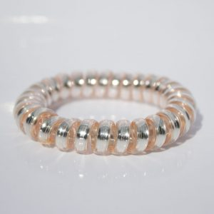 Perlová gumička do vlasov Hairfix - Metallic Pearl