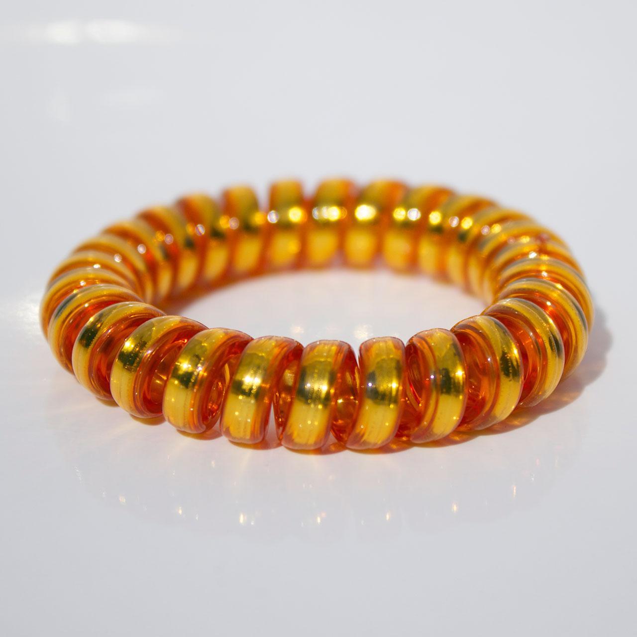 Žltozlatá gumička do vlasov Hairfix - Metallic Yellow Gold