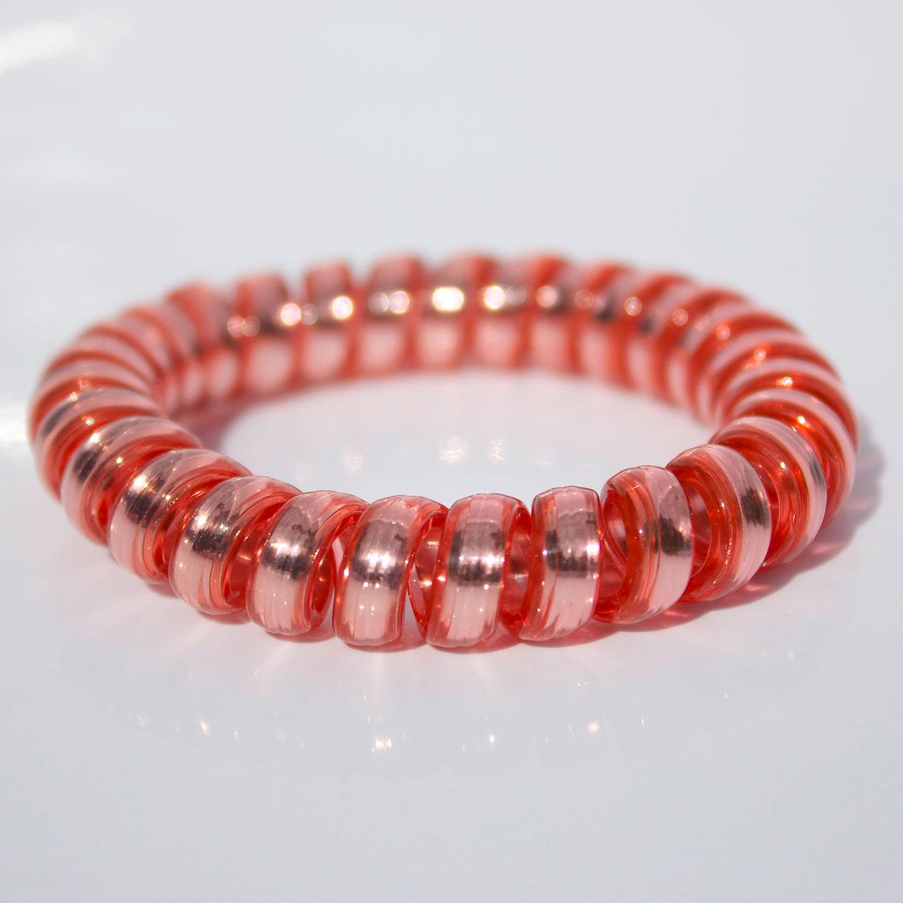 Ružovo zlatá gumička do vlasov Hairfix - Metallic Rose Gold
