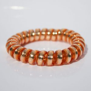 Bronzová gumička do vlasov Hairfix - Metallic Bronze