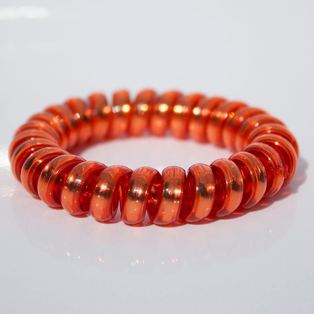 Červená gumička do vlasov Hairfix - Metallic Red