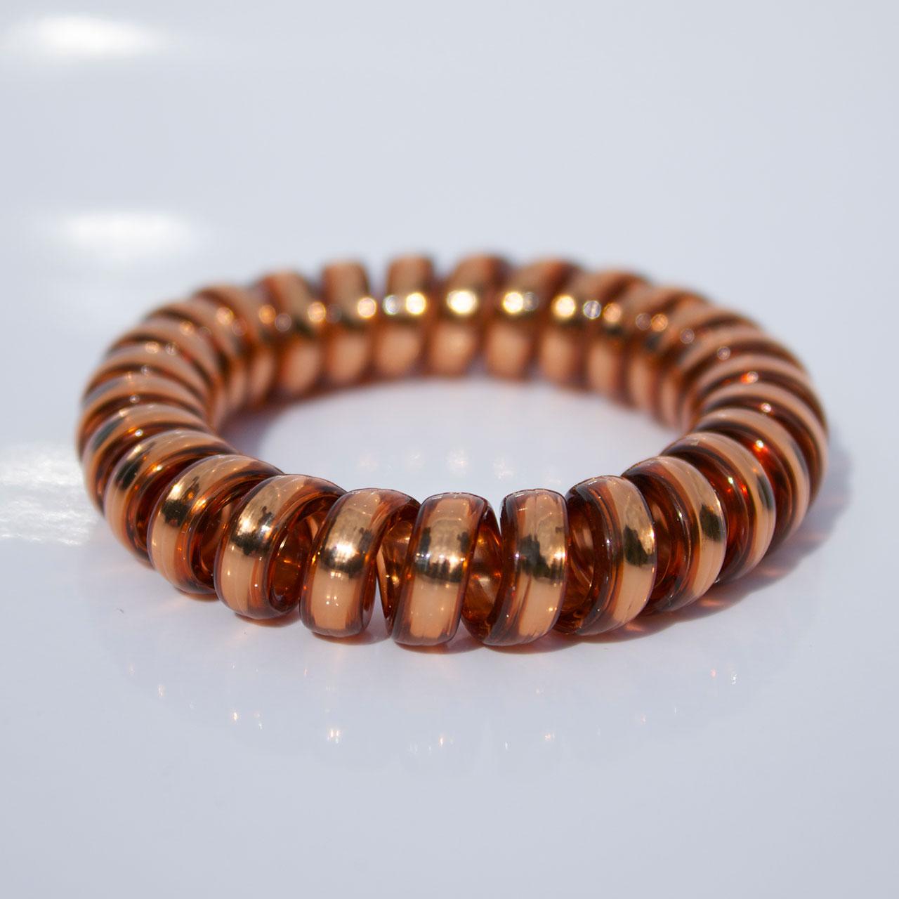 Hnedá gumička do vlasov Hairfix - Metallic Brown