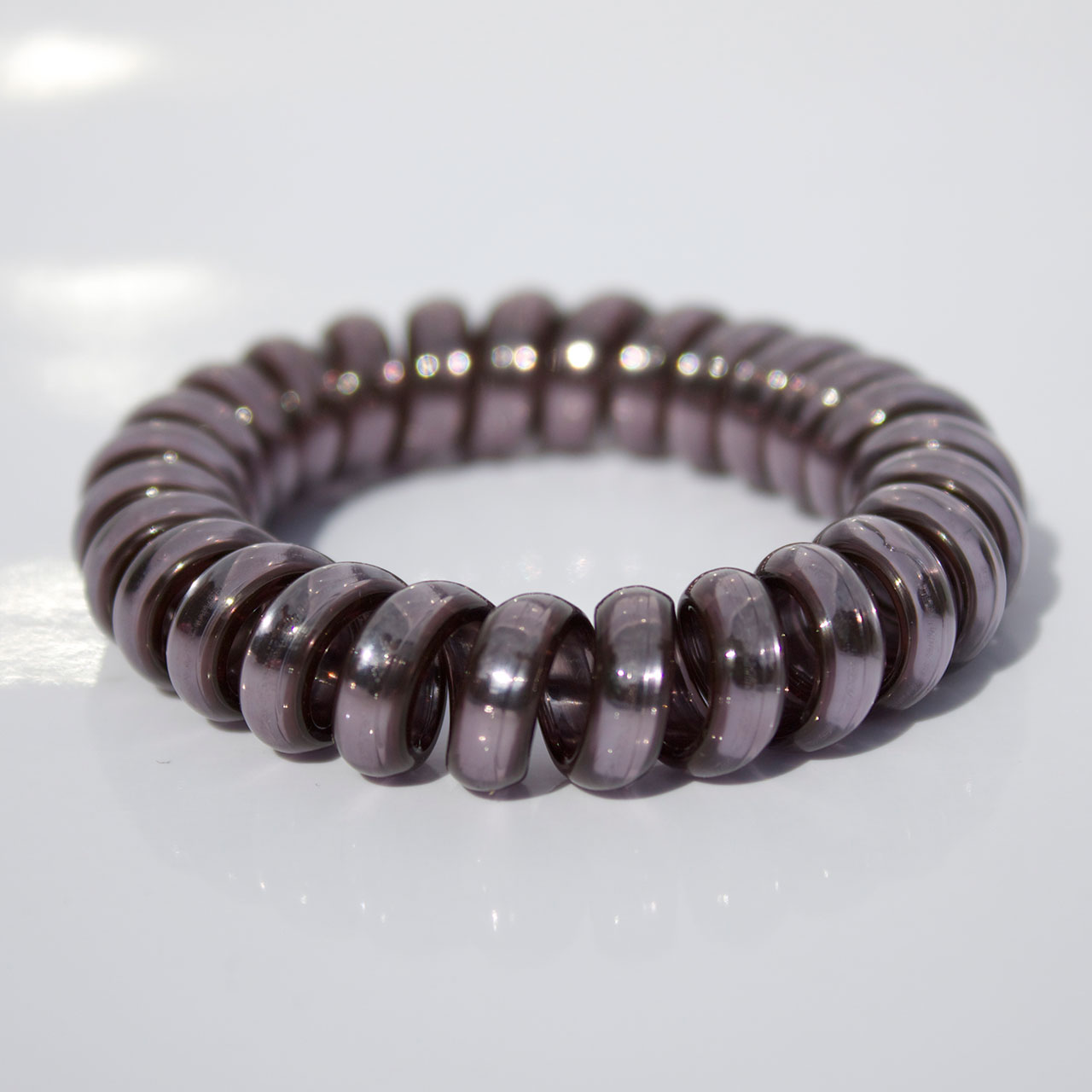 Oceľovo šedá gumička do vlasov Hairfix - Metallic Steel