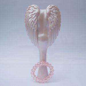 Bledoružová veľká kefa do vlasov Tangle Angel - Precious Pink