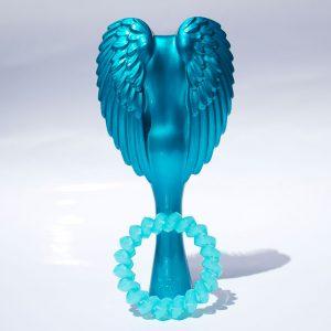 Tyrkysová stredná kefa do vlasov Tangle Cherub - Totally Turquoise