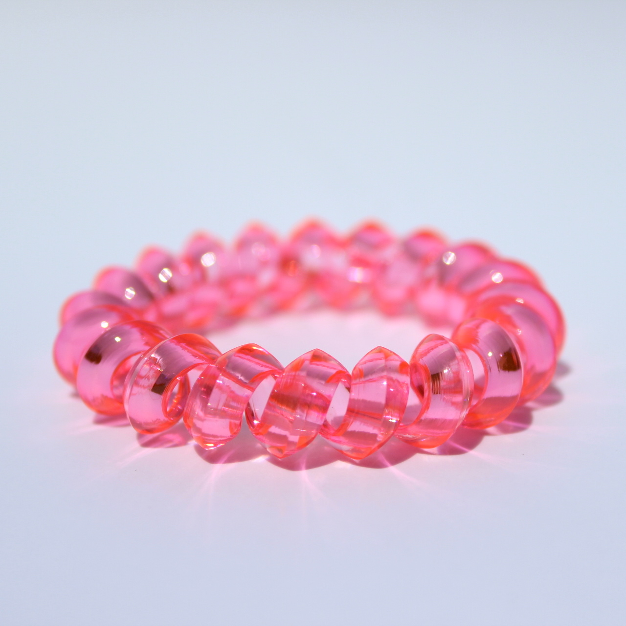 Ružová gumička do vlasov Hairfix - Crystal Špicaté Pink