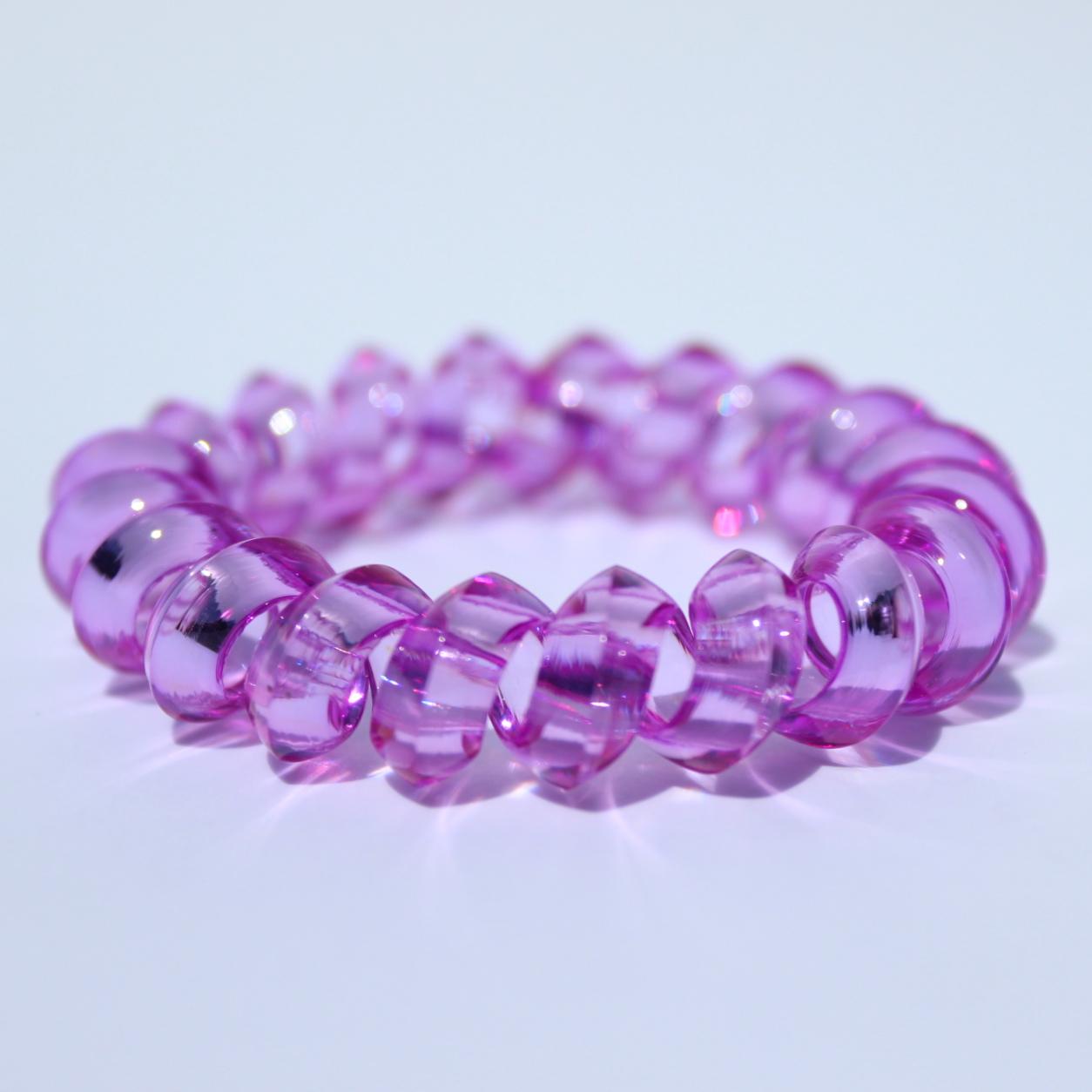 Fialová gumička do vlasov Hairfix - Crystal Špicaté Purple