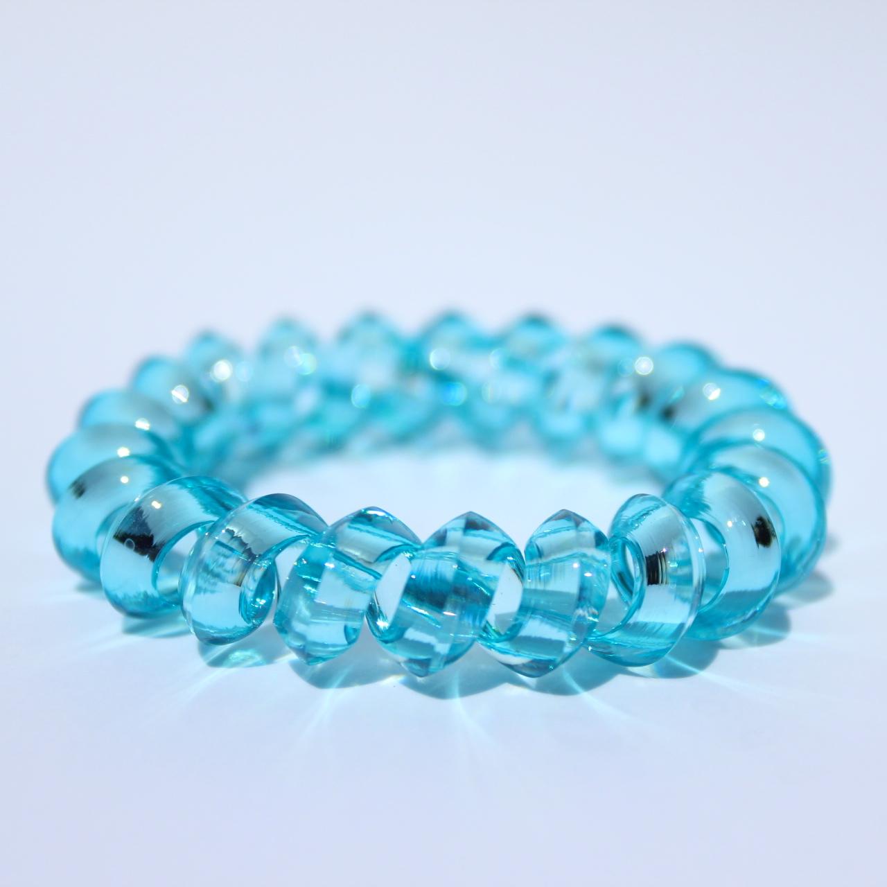 Bledomodrá gumička do vlasov Hairfix - Crystal Špicaté Light Blue