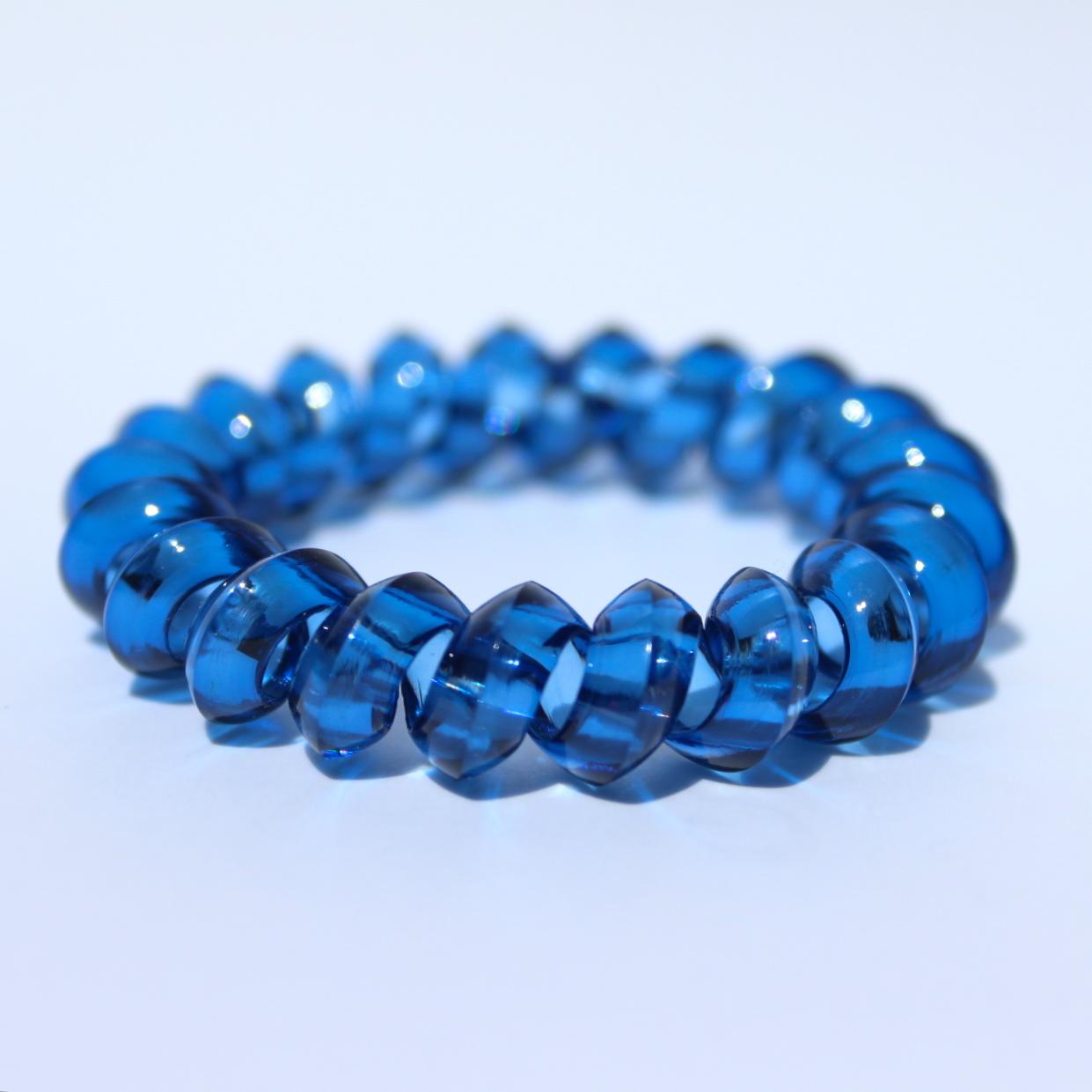 Tmavomodrá gumička do vlasov Hairfix - Crystal Špicaté Dark Blue