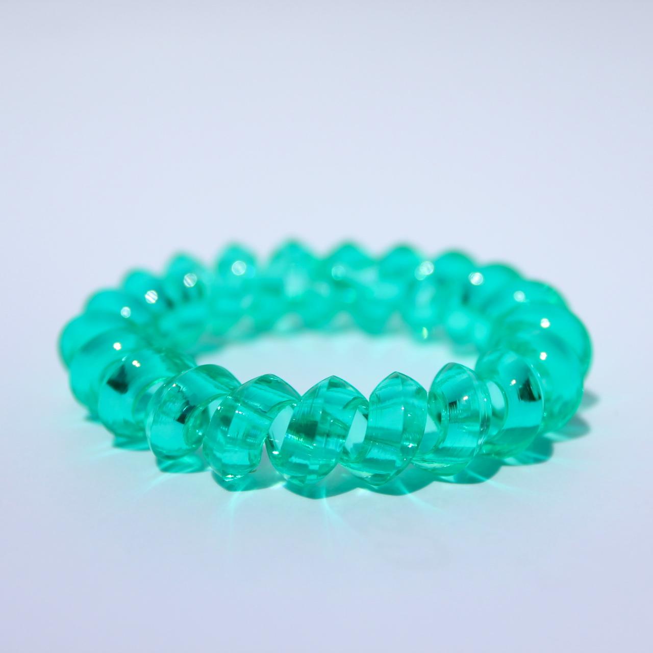 Zelená gumička do vlasov Hairfix - Crystal Špicaté Green