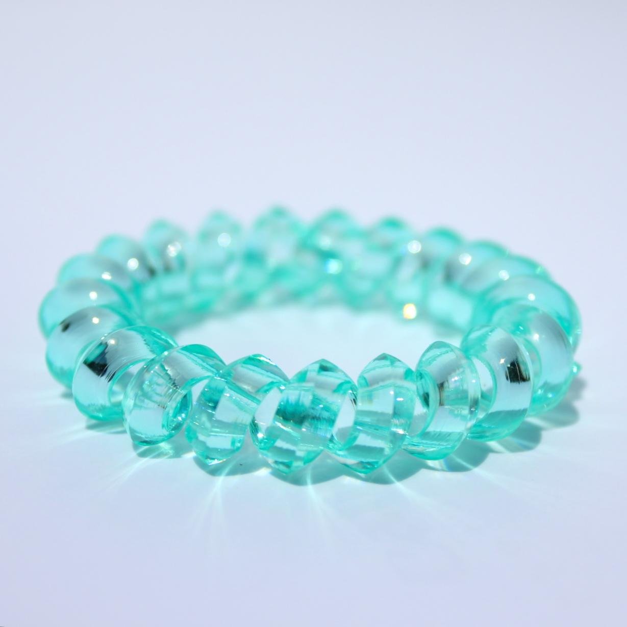 Mentolová gumička do vlasov Hairfix - Crystal Špicaté Mint