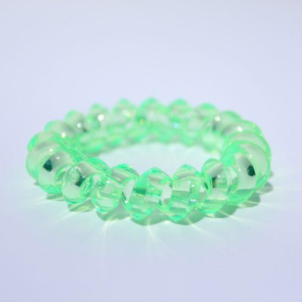 Neónovo zelená gumička do vlasov Hairfix - Crystal Špicaté Neon Green