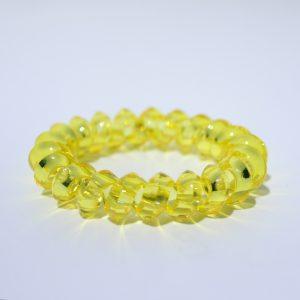 Žltá gumička do vlasov Hairfix - Crystal Špicaté Yellow