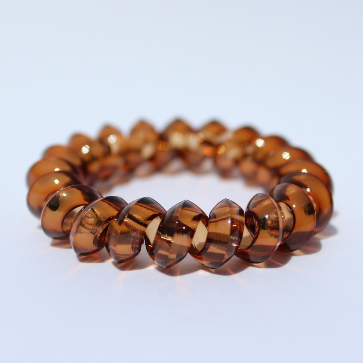 Hnedá gumička do vlasov Hairfix - Crystal Špicaté Brown