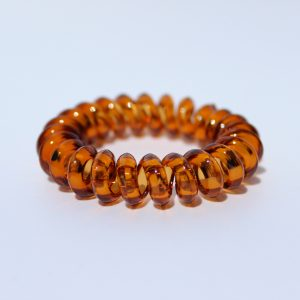 Hnedá gumička do vlasov Hairfix - Crystal Špicaté Špeciál Brown