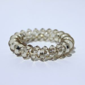 Bledošedá gumička do vlasov Hairfix - Crystal Špicaté Špeciál Light Grey