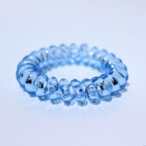 Bledomodrá gumička do vlasov Hairfix - Crystal Špicaté Špeciál Light Blue