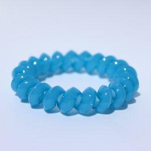 Bledomodrá gumička do vlasov Hairfix - Solid Light Blue