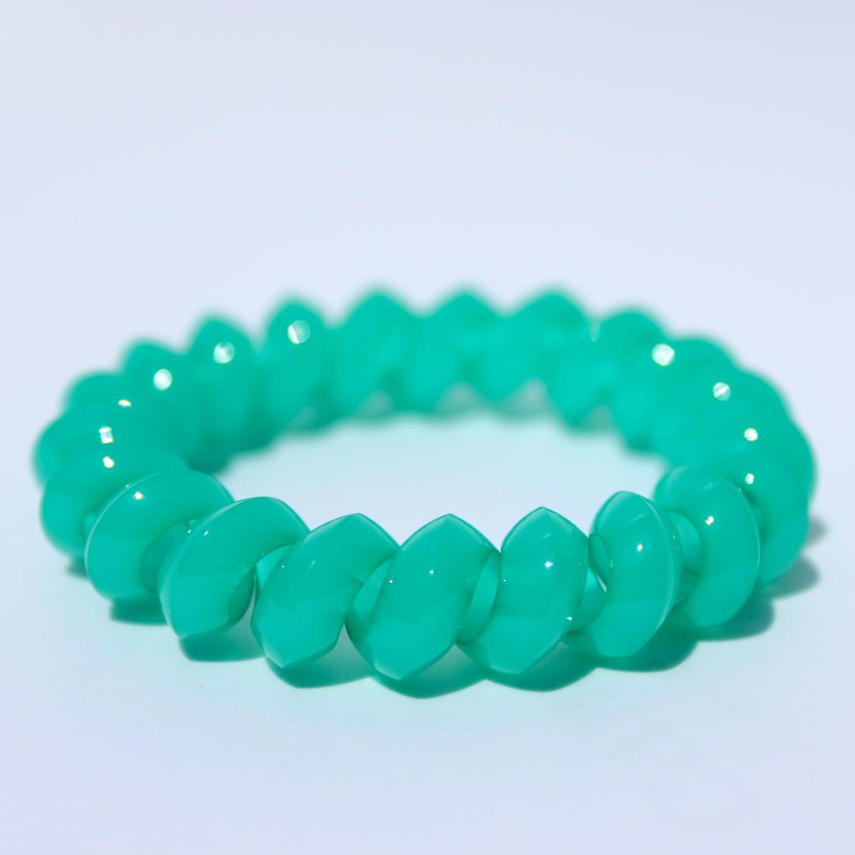 Zelená gumička do vlasov Hairfix - Solid Green