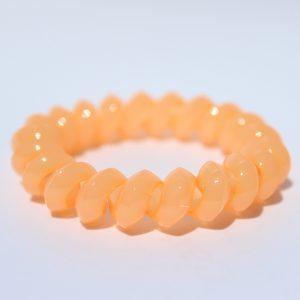 Koralová gumička do vlasov Hairfix - Solid Coral