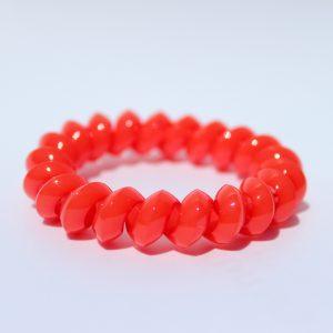 Červená gumička do vlasov Hairfix - Solid Red