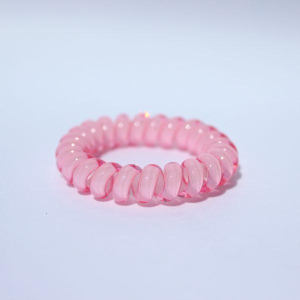 Bledoružová gumička do vlasov Hairfix - Cool Light Pink