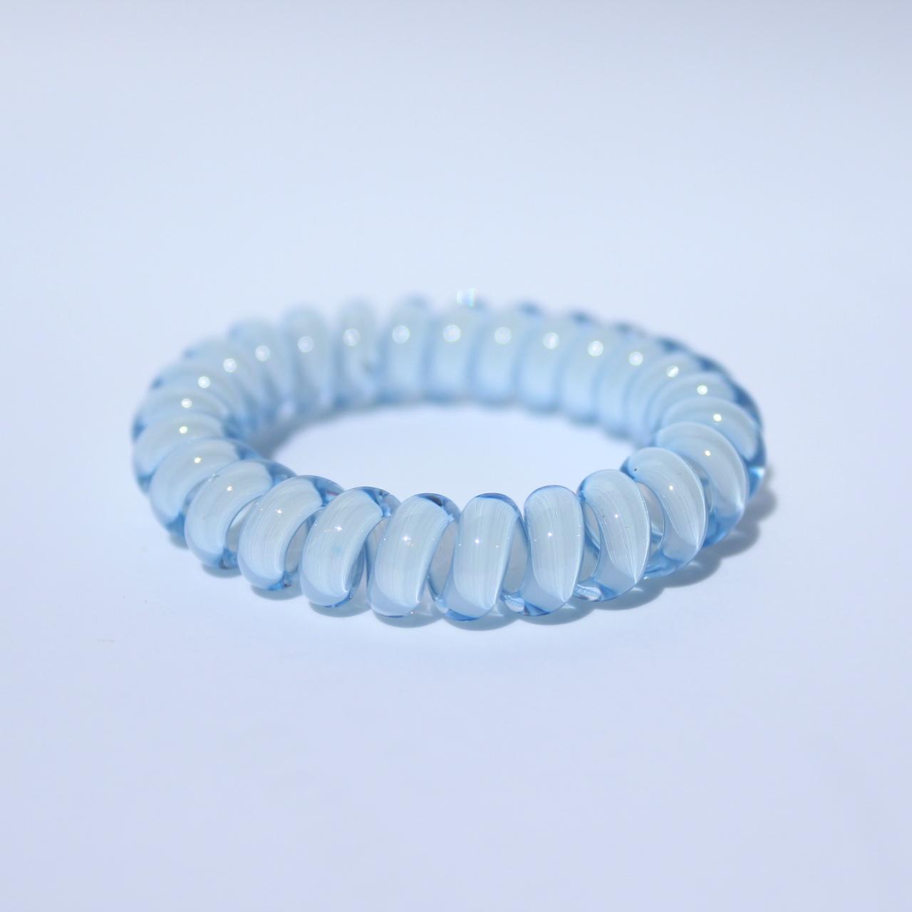Bledomodrá gumička do vlasov Hairfix - Cool Light Blue