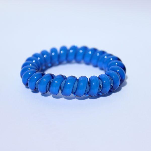 Tmavomodrá gumička do vlasov Hairfix - Cool Dark Blue