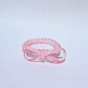 Bledoružová gumička do vlasov s mašličkou Hairfix - Bow Light Pink
