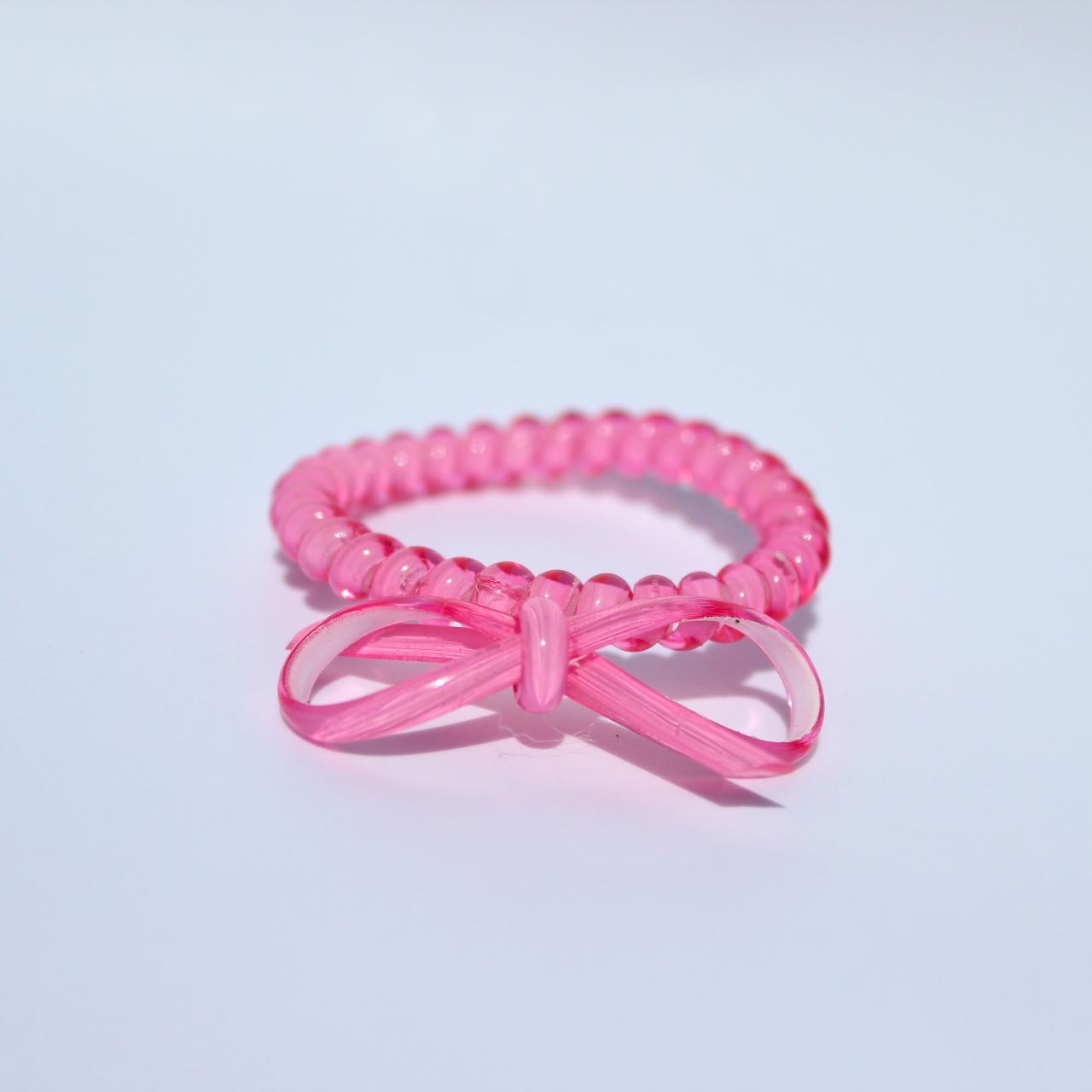 Ružová gumička do vlasov s mašličkou Hairfix - Bow Pink
