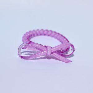 Bledofialová gumička do vlasov s mašličkou Hairfix - Bow Light Purple