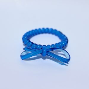 Tmavomodrá gumička do vlasov s mašličkou Hairfix - Bow Dark Blue