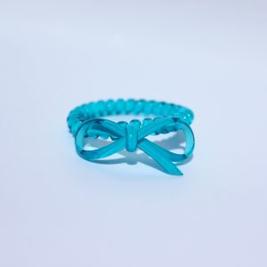 Modrá gumička do vlasov s mašličkou Hairfix - Bow Ocean