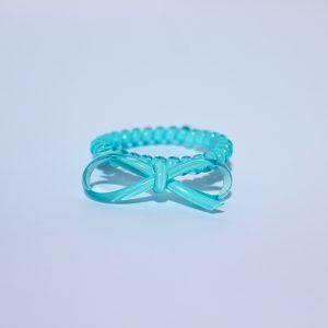 Tyrkysová gumička do vlasov s mašličkou Hairfix - Bow Turquoise