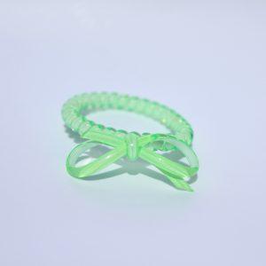 Jablkovo zelená gumička do vlasov s mašličkou Hairfix - Bow Apple Green